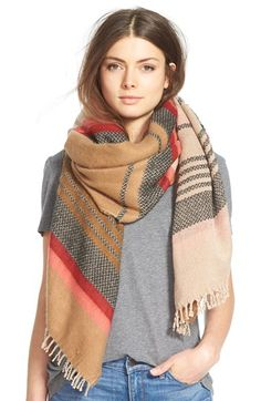 Hinge  'Jacquard Stripe Scarf available at #Nordstrom