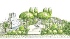 Эскизы садов Челси 2017, Artisan garden || Ландшафтная отрасль