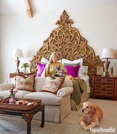 Cindy Rinfret Bedroom - Headboard Decorating Ideas - House Beautiful
