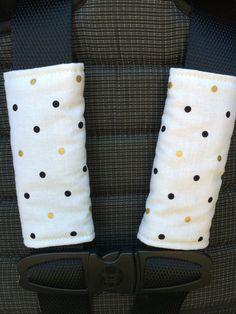 Couvre-sangles poussette / siège d'auto / POIS par 45delafabrique