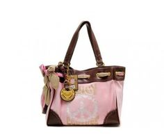 cheap - Cheap Juicy Couture Daydreamer Bags - Pink/Brown - Wholesale Discount Price    Tag: Discount Authentic Juicy Couture handbags Hot Sale, Cheap Juicy Couture Handbags New Arrivals, Original Juicy Couture Purses outlet, Wholesale Juicy Couture bags store