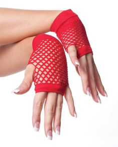 "Private Island Party  - 80's Short Fishnet Gloves - Red, $0.70- $1.99   Want to draw some stares with your style? Want people to look at you and ""man that person knows how to dress"", then you might want to check out our red short fishnet gloves."