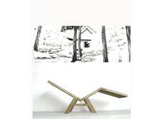 Chaise longue oak, serie of 8