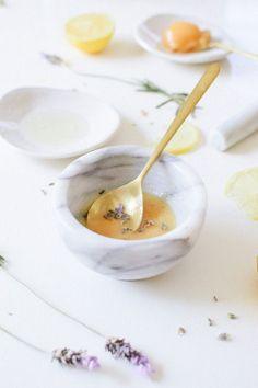 DIY lavender honey brightening face mask