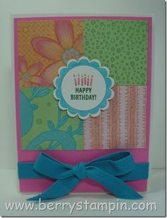 Berry Stamping--very cute card ideas
