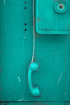turquoise | teal | old payphone, photography