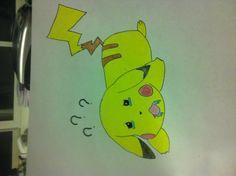 A very tired pikachu