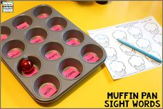 The Kindergarten Smorgasboard: A Kindergarten Smorgasboard Of Muffin Pan Sight Words