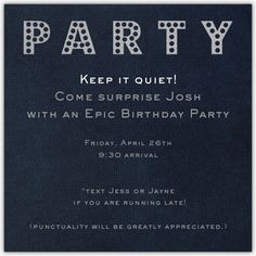 How to Throw a Surprise Party for a Man | the shellhammer