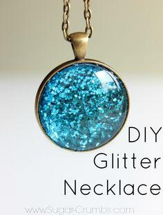 DIY Glitter Necklace