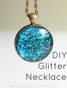 DIY Glitter Necklace