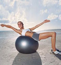 Stability-Ball Workout for a Sexier Stomach:Want to get a Tinseltown tummy at home? All you need are hand weights and a stability ball. For blockbuster results, do this workout three times a week for a month. Coming soon: your own close-up-worthy abs.