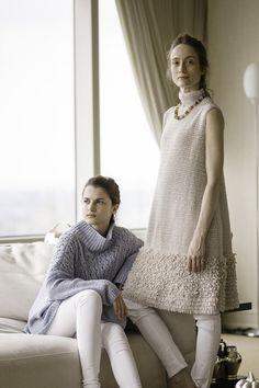 Irene Sweater and Vanderbilt Vest Spring/Summer 2016 Knitwear Fashion, Crochet Fashion, Hand Knitted Sweaters, Sweater Design, Knitting Designs, Crochet Clothes, Pulls, Couture Fashion, Knit Dress