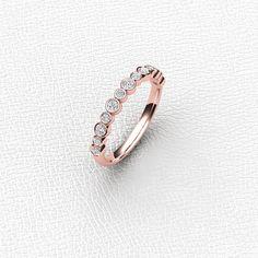 14K Rose gold bezel set by Masterjeweler on Etsy $575