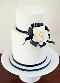 Image result for black and white wedding cakes