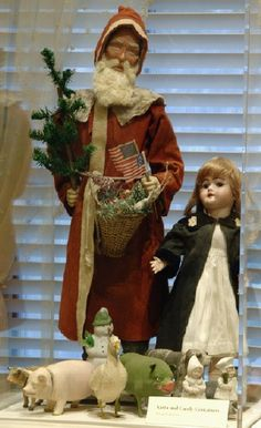 Antique Christmas display at the Taft Museum of Art in Cincinnati 2005