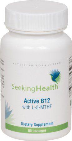 Amazon.com: Active B12 Lozenge With L-5-MTHF | Sublingal Active B12 | 1000 mcg of Pure Non-racemc L-methylfolate | 800 mcg of Methylcobalami...