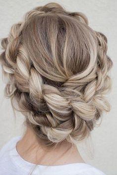 The most beautiful hair weaves – most beautiful # weaves # Hair – Hair Design Pretty Hairstyles, Wedding Hairstyles, Blonde Hairstyles, Updo Hairstyle, Hairstyle Wedding, Hairstyle Ideas, Hairstyles 2016, Crown Braid Wedding, Popular Hairstyles