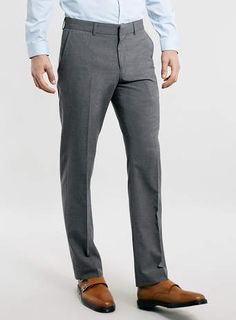 Light Grey Slim Smart Trousers