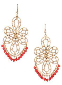 Alastor Danz Dangle Earrings Coral