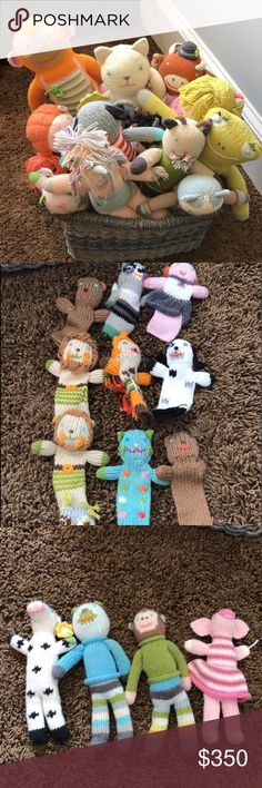 Bla Bla doll collection 6 large, 9 normal size, 4 rattles and 10 finger puppets. Most are not even touched, a few have been enjoyed but are in great condition. Bla Bla Other