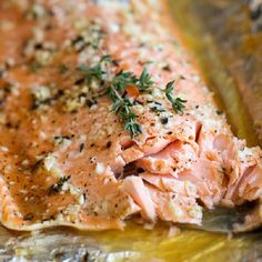 A no-fuss, super easy salmon dish that's baked in foil for the most tender, most flavorful salmon ever! Just 10 min prep!