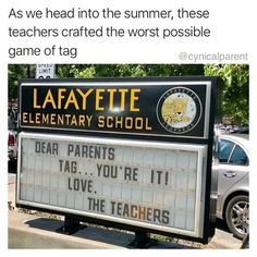 I'm sure all the teachers out there feel this so hard: 17 Real Life Signs That Will Make You Wince And Cackle At The Same Damn Time Funny Images, Best Funny Pictures, Funny Photos, Home Alone Characters, Dear Parents, School Signs, Last Day Of School, Sarcasm Humor, Dad Jokes