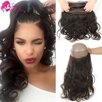360 Lace Frontal Band With Baby Hair Unprocessed Virgin Hair Brazilian Body Wave With 360 Lace Frontal Closure Natural Hairline