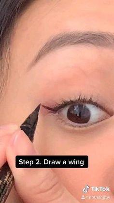 Edgy Eye Makeup, Eye Shape Makeup, Korean Eye Makeup, Eye Makeup Art, Simple Makeup, Skin Makeup, Cute Makeup, Makeup Tutorial Eyeliner, Makeup Looks Tutorial