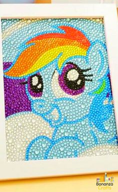 5D Diamond Painting Rainbow Pony Children's Kit – Bonanza Crafts. Children love Diamond Painting! And now they can join in too. diamond painting kit, diamond painting tips, diamond painting tips and tricks, framing diamond paintings, 5d diamond painting, diamond painting kit for beginners, diamond painting pattern, Children painting, Painting for beginners.  #diamondpainting #paintingpattern#bonanzacrafts #painting #paintingkit #kidspainting #paintingforbeginners