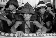 Tao aborigines in traditional warrior armors protest against nuclear waste disposal in their hometown, Orchid Island (Lanyu) #Taiwan