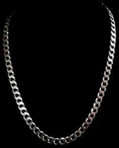 Men's Big & Chunky Curb Chain Necklace in 925 Solid Sterling Silver - 51g