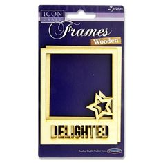 Wooden Square Frames (2pcs) - Delighted Arts And Crafts Projects, Frames, Stationery, Scrapbook, Fabric, Decor, Tejido, Tela, Decoration