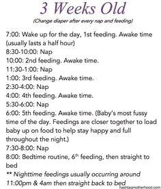 Birth to 6 Months Baby Schedule - Hashtag Motherhood. 3 weeks old schedule - Birth to 6 Months Baby Schedule – Hashtag Motherhood. 3 weeks old schedule - Baby Boys, Baby Schedule, Baby Feeding Schedule, Newborn Schedule, Baby Checklist, 3 Month Old Schedule, Pumping Schedule, Baby Monat Für Monat, Baby Information