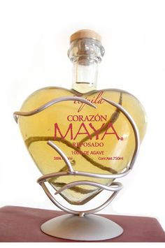 tequila corazón maya - reposado - artesanal bottle