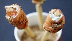 Piruletas de queso y salmón #cuisine #recipes
