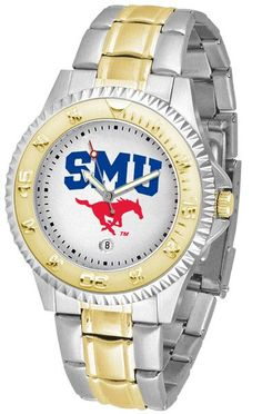 Mens Southern Methodist University Mustangs - Competitor Two Tone Watch