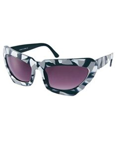 ASOS Monochrome Extreme Cat Eye Sunglasses