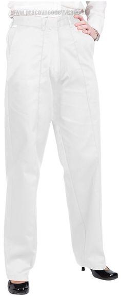 Pracovné odevy-dámske biele nohavice LW97 PW