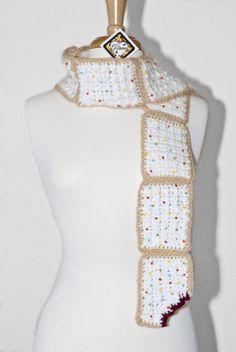 Pop Tart Crochet Scarf Crochet Scarf Women by Gitanaflipflops, $43.00