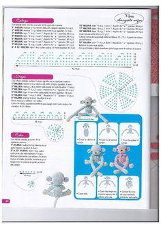 PATRONES GRATIS DE CROCHET: Patrón gratis a crochet del mono abraza cortinas