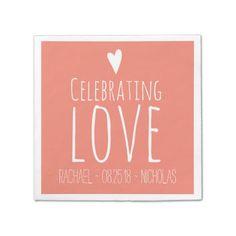 Celebrating Love | Wedding Disposable Napkins