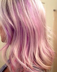 Pastel purple and pink.