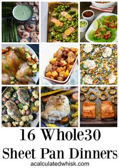These paleo, gluten-free, and sheet pan dinners will keep you well fed all month long while minimizing prep time and cleanup. These paleo, gluten-free, and sheet pan dinners will keep you well fed all month long while minimizing prep time and cleanup. Paleo Whole 30, Whole 30 Recipes, Clean Eating Recipes, Healthy Eating, Sheet Pan Suppers, Paleo Dinner, Paleo Recipes, Paleo Meals, Paleo Food