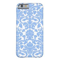 Damask Periwinkle Blue Barely There iPhone 6 Case