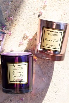 Luscious Lavender: Lavender Field, Poised Pink: Pink Rose, Mischievous Mauve: Lilac Bouquet. We prioritize naturality and hand pour our candles using a natural soy wax blend. Our candles are made of 100% paraffin free vegetable wax. Soy wax has its own off-white color and due to the nature of essential oils, it may discolor over time. Our soy candles are highly scented using the finest ingredients from European fragrance houses.