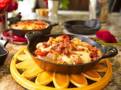 Hot Browns with Pimento Cheese Mornay recipe from Damaris Phillips via Food Network