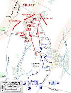 Battle of Gettysburg, Third Day cavalry battles - Wikipedia, the free encyclopedia