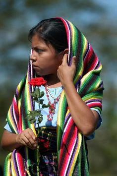 niña Indigena del Salvador .