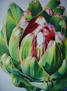 Cynara II by Laurie Asahara Watercolor ~ 30 x 22